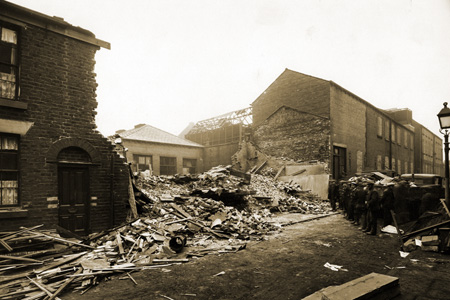 Bomb Damage on Matthew Street 9 January 1941