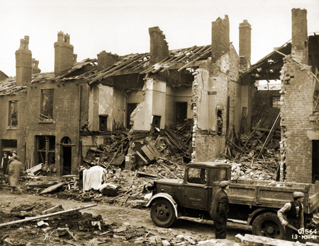 Bomb Damage on Punch Street 12-13 October 1941