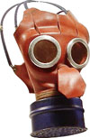 Gas mask issued to children