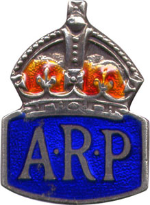 Enamel ARP lapel badge