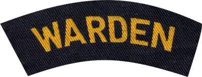 Printed cloth Warden shoulder title