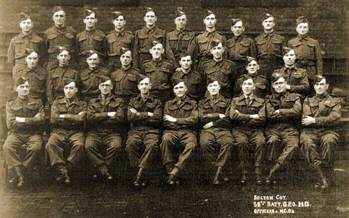 Bolton Company 58th Batallion GPO Home Guard (East Lancashire Regiment) officers + NCOs