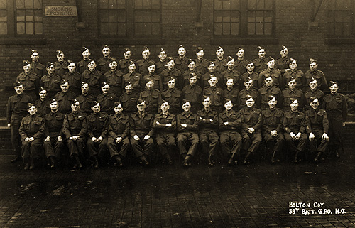 Bolton Company 58th Batallion GPO Home Guard (East Lancashire Regiment) other ranks