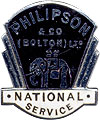 War workers lapel badge for Philison & co (Bolton) ltd