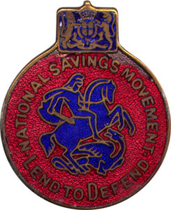 Enamel Badge of Natioal Savings Movement