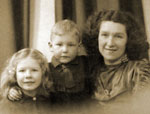 Edith with her Mother and her brother John