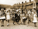 Children's fancy dress parade in Hibernia Street in support of the Red Cross