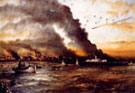 Ernest's painting of the evacuation of Dunkirk 1940