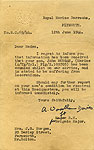 Letter sent to Jack's Mother after being wounded on D Day