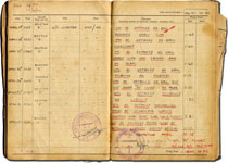 Pages from Bill's Wartime RAF flight log book