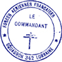 Rubber stamp of commandant of 342 Squadron