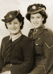 Nellie (left) with her sister Edith in Women's Land ATS uniform